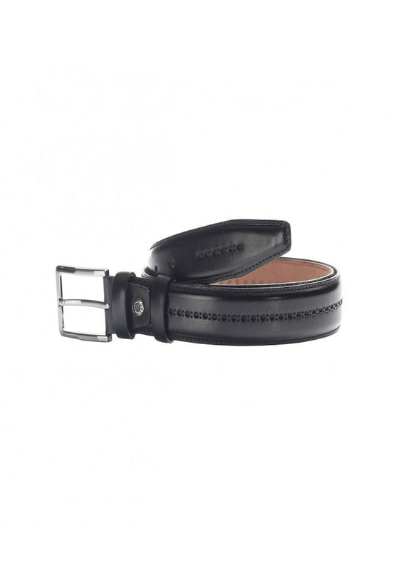 1Black Male-Patterned Leather Belt 43038-763