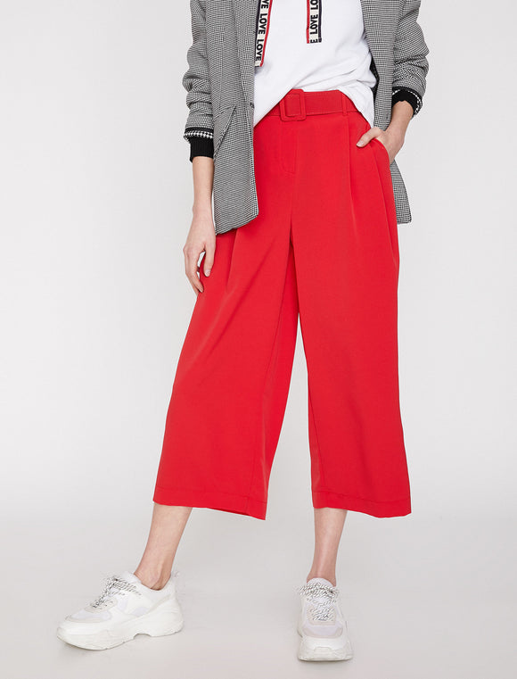 1765 Red Culottes Pants