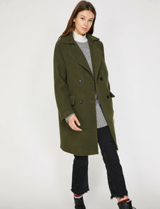 3519 Khaki Double Breasted Coat