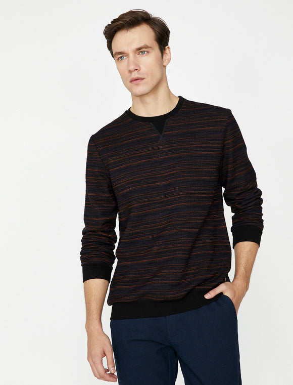 4076 Black Patterned Jumper