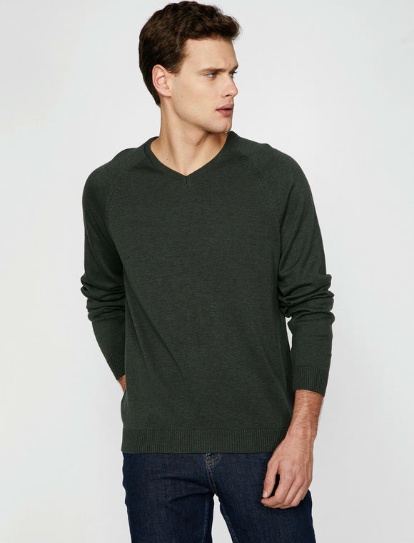 4086 Green Crew Neck Jumper