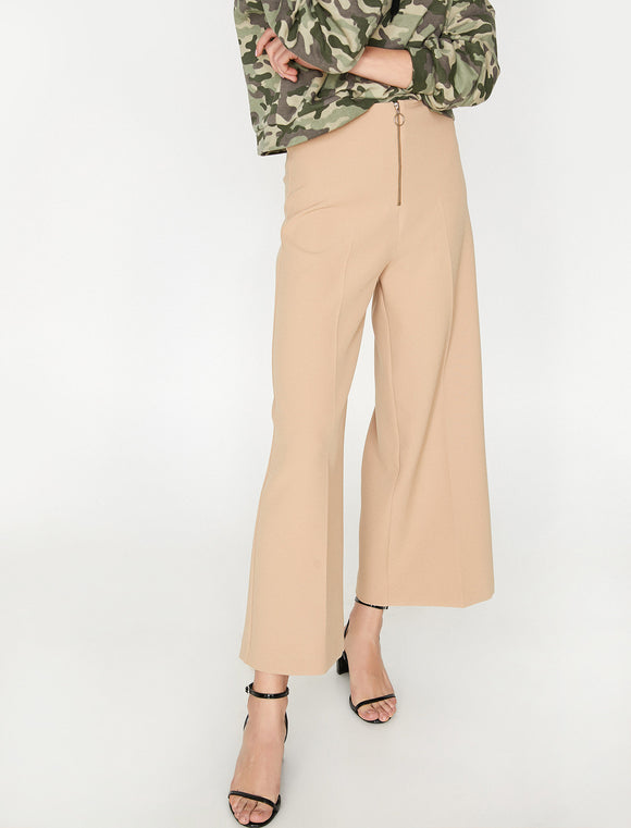 1679 Beige Wide Leg Flare Pants