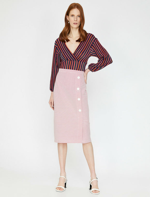 Striped Skirt Red Striped