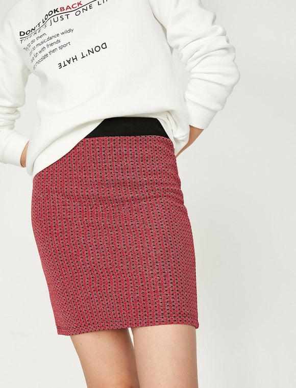 Patterned Skirt Red