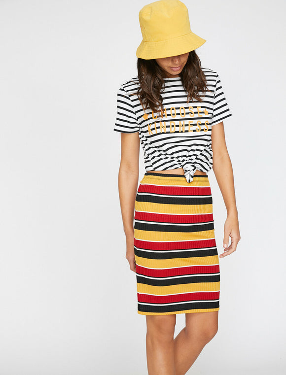 Striped Skirt Red