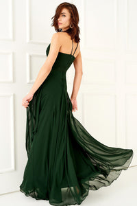1310001 Emerald Green Strap Dress