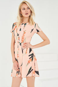 1210023 Powder Patterned Skater Dress
