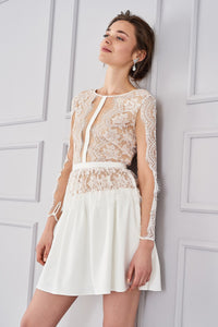 4610001 White Lace Dress