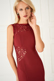 1310088 Cherry Lace Detail Dress