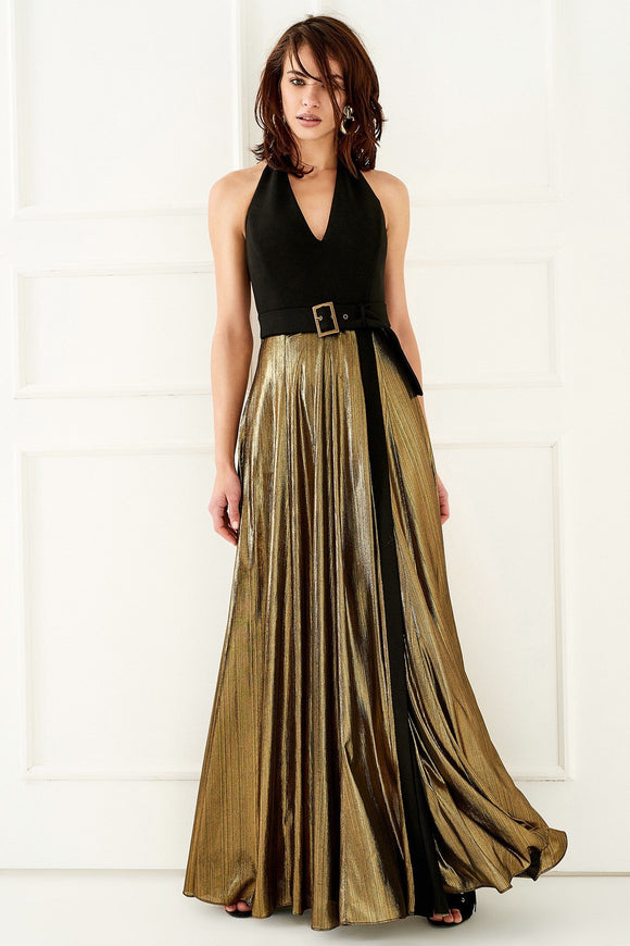 1310042 Black-Gold Gown