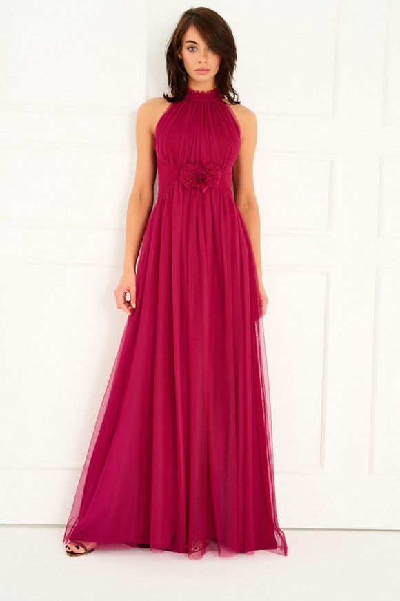1310081 Cherry Flowing Sleeveless Gown
