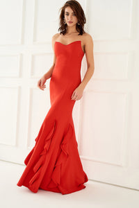 1310078 Red Sweatheart Gown