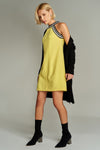 1210035 Yellow Shift Dress