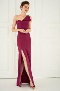 1310016 Cyclamen One Shoulder Dress