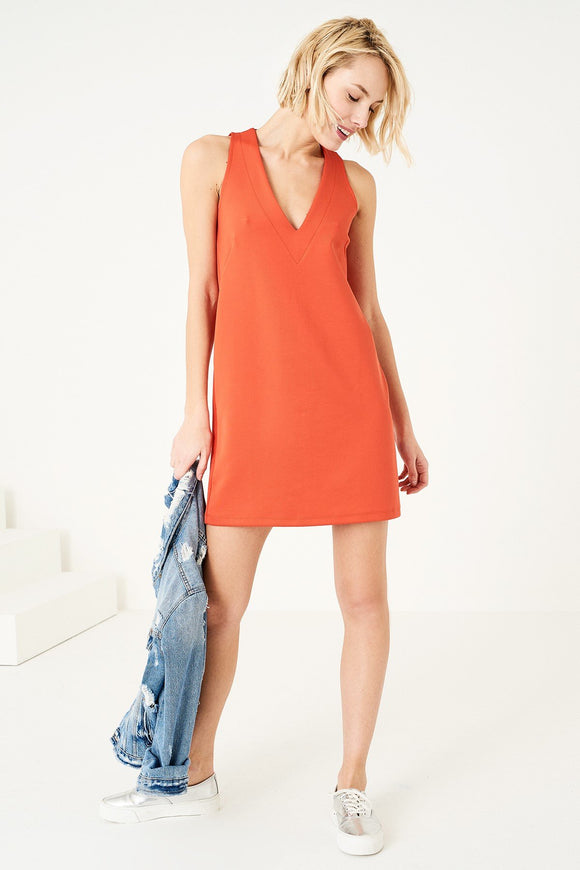 1210028 Orange Shift Dress
