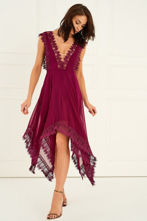 1210050 Purple Maxi Dress