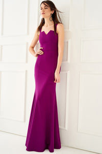 1310057 Purple Strapless Dress