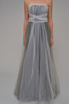 1310029 Grey Draped Gown
