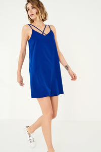 1210061 Blue Strappy Dress
