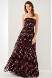1310265 Bordeaux Strapless Evening Gown