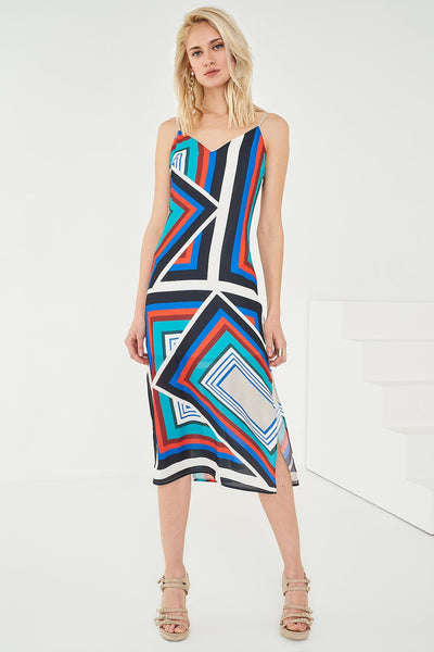 1210054 Multi-Coloured Slip Dress