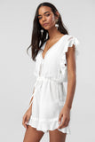 5212095 White Lace Detail Playsuit