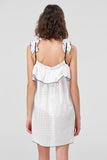 1210453 Off-White Laser Transparent Dress