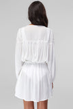 1210441 Off-White Flare Gypsy Dress