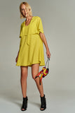 1210072 Yellow Tent Dress