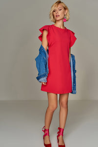4510125 Red Shift Dress