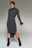4510016 Smoked Grey Sweater Dress