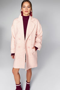 3550157 Pink Double-Breasted Coat