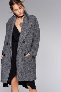 3550070 Anthracite Double-Breasted Coat