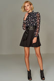 1210158 Black Flower Pattern Dress