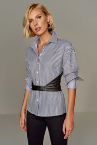 3010046 Black Stripe Cotton Shirt