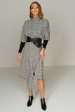 4510152 Grey Plaid Dress