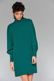 4510034 Green Cuffed Sleeve Dress