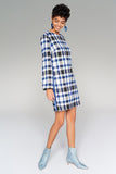4510174 Blue Plaid Dress