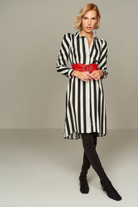 4510017 Black Stripe Shirt Dress