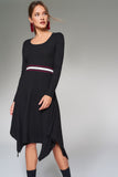 4510184 Black Ribbed Dress