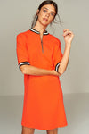 1210093 Orange Loose Dress