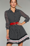 4510021 Black Polka Dot Shirt Dress