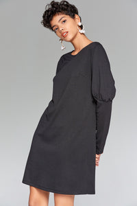 4510201 Black Shift Dress