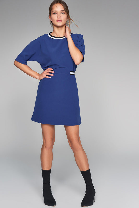 1210097 Blue Casual Dress