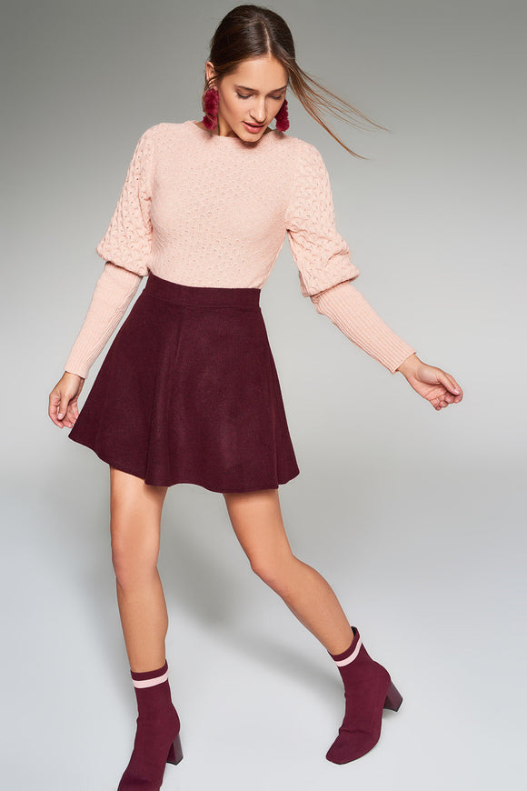 2910084 Bordeaux Mini Skirt