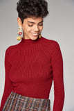 3020279 Burgundy Knitted Blouse