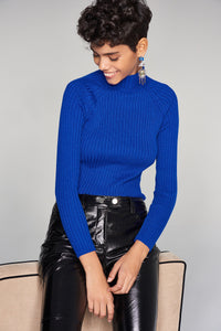 3020314 Blue Knitted Blouse