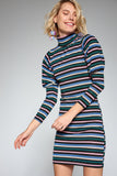 1210106 Multi Colour Knit Dress