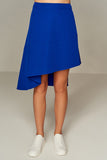 2910087 Blue High-Low Skirt