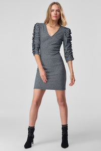 4510046 Black-Grey Checkered Dress
